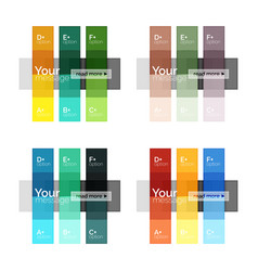 square and stripes geometric infographic templates vector image