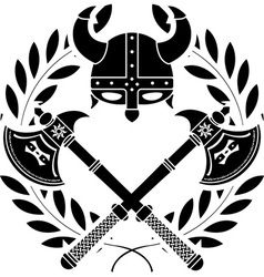 viking glory stencil first variant vector image vector image