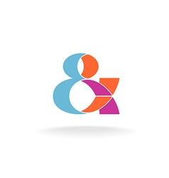 Ampersand logo vector image vector image