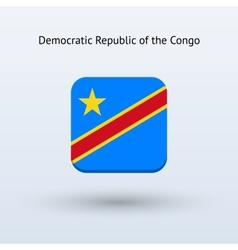 Democratic Republic of the Congo flag icon vector image