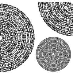 monochromatic ethnic textures round whole half vector image vector image
