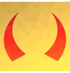 Red Horns Icon vector image