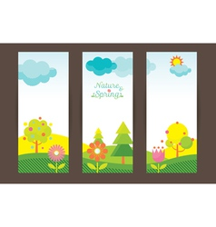 Spring Season Object Icons Backdrop vector image vector image