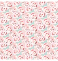 Watercolor pink rose vector