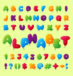english balloon colorful alphabet on background vector image