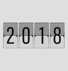 flip board happy new year 2018 vector image vector image