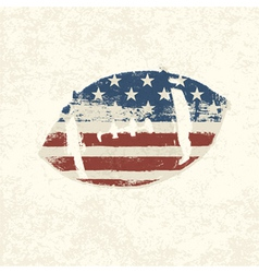 grunge american football symbol vector image vector image