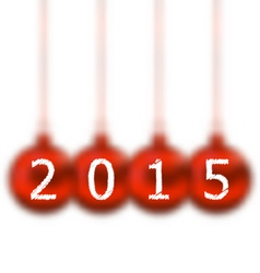 Happy new year in hanging glass ball on white vector image vector image