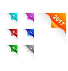 Paper corners 2017 vector image vector image