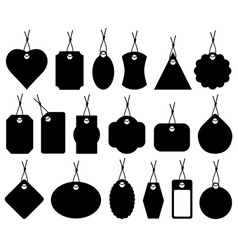 Set of different price tags vector image