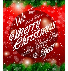 2014 Christmas Vintage typograph design vector