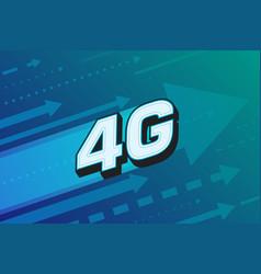4g high speed internet technology vector