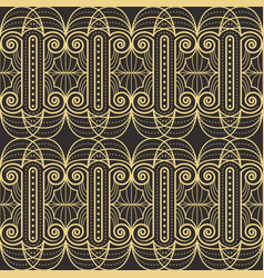 Abstract art deco seamless pattern 09 vector