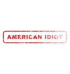 American idiot rubber stamp vector