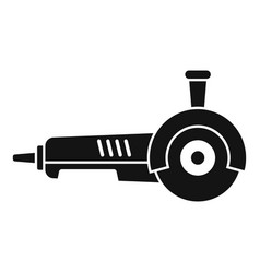 Angle grinder icon simple style vector