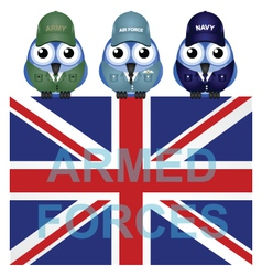 ARMED FORCES UK vector image