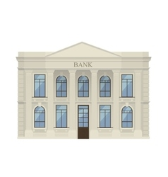 Bank building icon isolated vector image