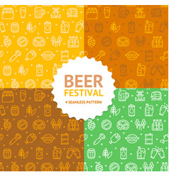 beer and oktoberfest signs seamless pattern vector image
