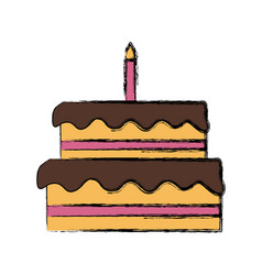 big birthday cake vector image