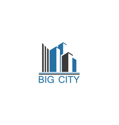 big city logo vector image