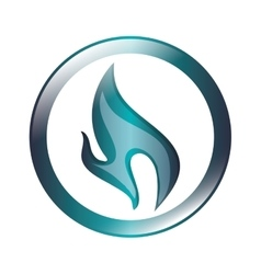 blue flame icon vector image