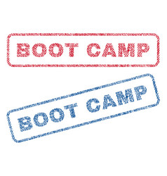 Boot camp textile stamps vector