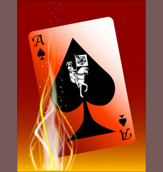 Burning death card vector