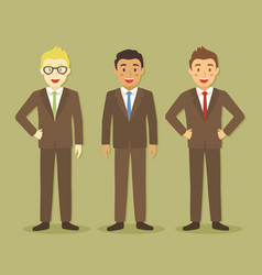 businessman in three different style vector image