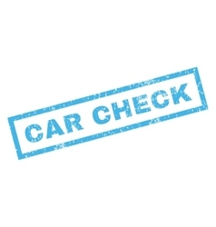 Car Check Rubber Stamp vector