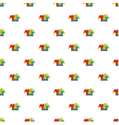 carnival jester pattern seamless vector image