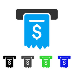 Cheque payment flat icon vector