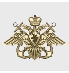 coat arms russian fleet vector image
