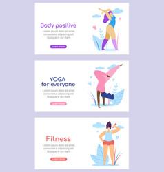 curvy international women active healthy lifestyle vector image