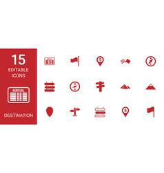 destination icons vector image
