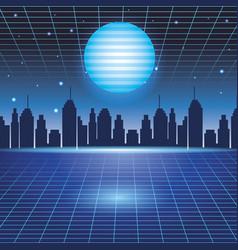digital cityscape background vector image