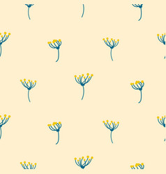 Dill crown flower abstract simple seamless pattern vector