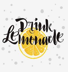 drink lemonade rough traced custom artistic vector image