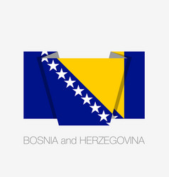 Flag of bosnia and herzegovina flat icon waving vector