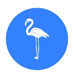 Flamingo icon in black style isolated on white vector image