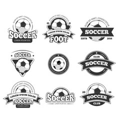 Football soccer club logo badge templates vector