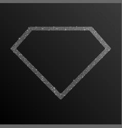 Frame silver sequin diamond vector