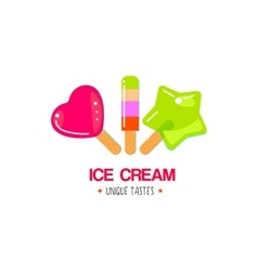 Fruit ice cream design vector