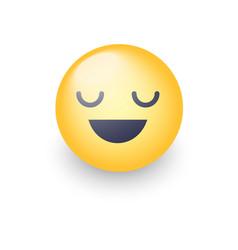 Fun cartoon emoji smiley icon face happy smiling vector