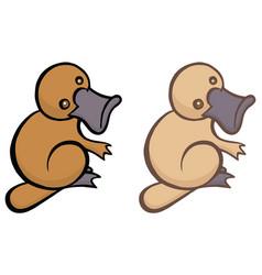 Funny cartoon platypus vector