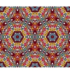 geometric colorful mosaic seamless pattern vector image