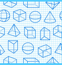 geometric shapes seamless pattern flat line icons vector image