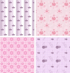 girly patterns vector image