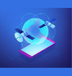 global web connection isometric 3d concept vector image