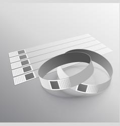 Hand wear wristband mockup template vector