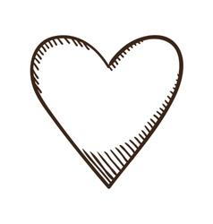 Heart like symbol vector image